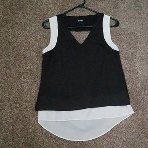 By&by black and white top size s
